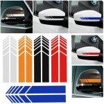 CVANU Car Rearview Mirror Strip Sticker Vinyl Racing Decal Emblem (Black) for Maruti Suzuki Ignis