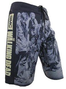 The Walking Dead AMC Men's Board Shorts - Zombie March (X-Large)