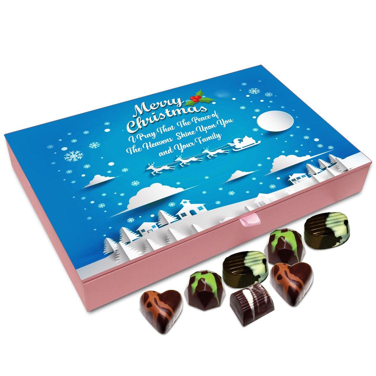 Chocholik Christmas Gift Box – I Pray That Peace of Heaven Shine Upon You On Christmas Chocolate Box – 12pc