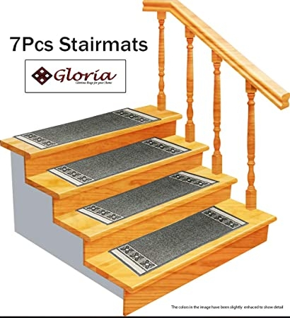 Stair Treads Carpet Rubber Backing – Stair Runners For Steps | Rug Treads For Steps | Turquoise | Stair Runner Matching Landing | Covering | Outdoor Carpet | Wood
