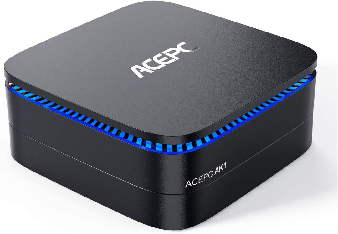 "ACEPC AK1 Mini PC,Windows 10(64 Bits) Ordinateur de Bureau Intel Celeron Apollo Lake J3455 (jusqu'à 2,3 GHz)[8GB/120GB/Support 2.5"" SSD/Double WiFi/Gigabit Ethernet/BT 4.2/4K]"