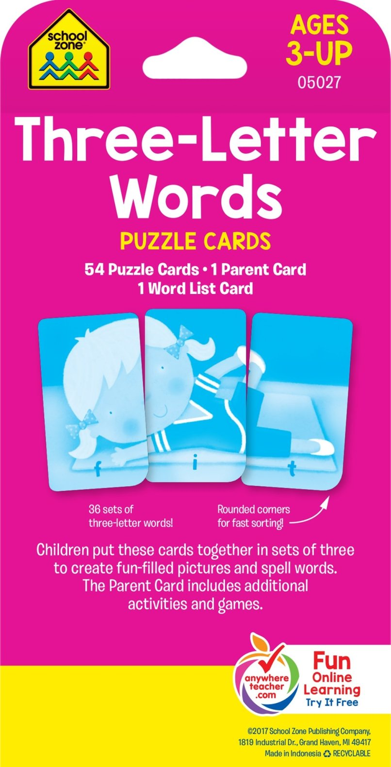 3 Letter Word Puzzle Cards Poemdocor
