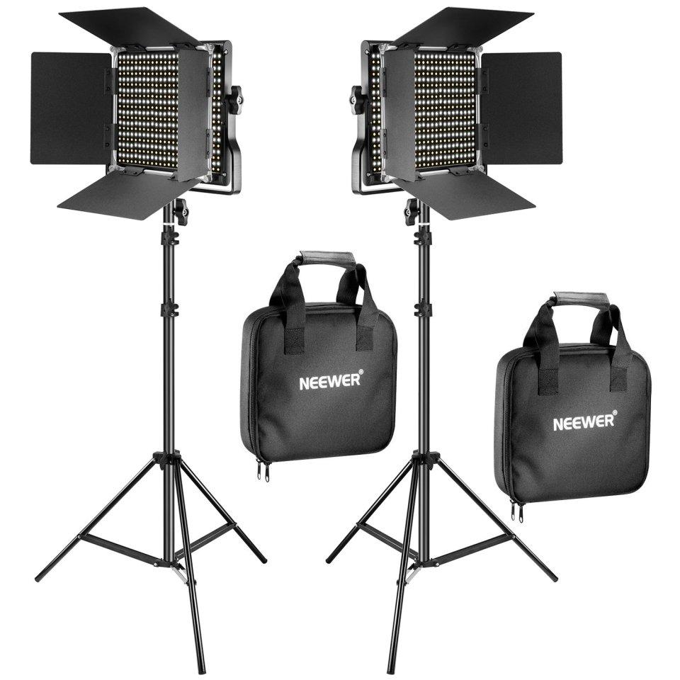 Neewer Kit de 2 Piezas Bi-Color 660 LED Luz Video