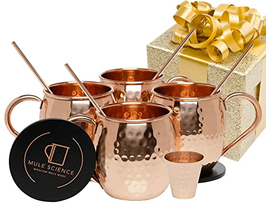 A moscow mule set is a great christmas gift idea for couples!