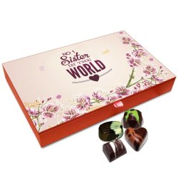 Chocholik Rakhi Gift Box – No. 1 Sister in The World Chocolate Box for Sister – 12pc