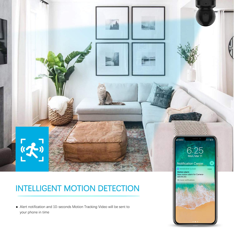 Wireless Security Camera, IP Camera 1080P HD Wansview, WiFi