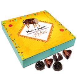 Chocholik Lohri Gift Box – Have A Joyous Lohri Chocolate Box – 9Pc