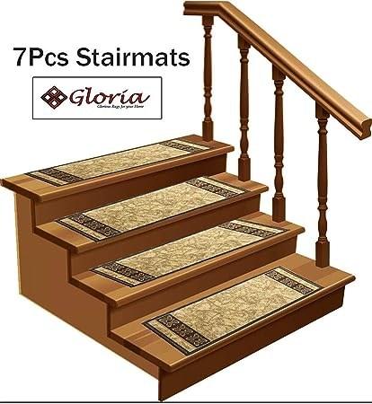 Amazon Com Stair Treads Carpet Non Slip – Stair Runners For   Non Slip Stair Rugs   Bullnose Carpet   Carpet Rug   Mat   Stair Runners   Tread Covers