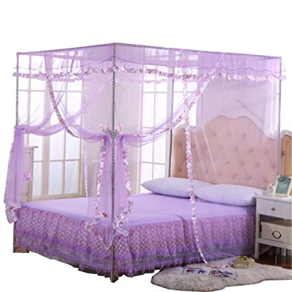 Jqwupup Mosquito Net For Bed 4 Corner Canopy For Beds Canopy Bed Curtains
