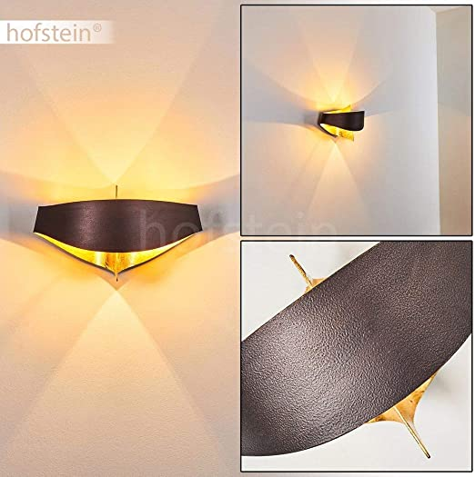 Wall Lamp Padua Modern Wall Mounted Lamp In Brown And Gold Light Dispersal Creates Patterns Made From Metal 2x G9 Sockets Suitable For Leds Amazon Co Uk Lighting