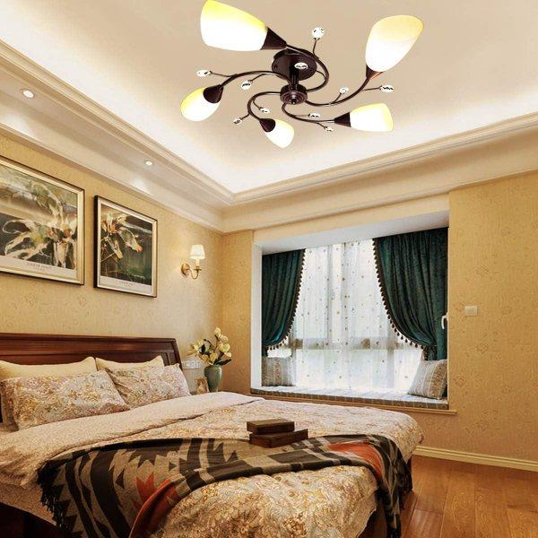 A semi flush mount ceiling light - Amazon