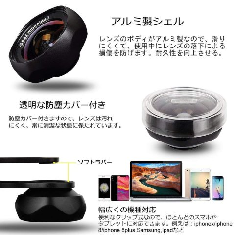 LUXSURE ローズ型 2in1 アルミ製シェル 防塵カバー