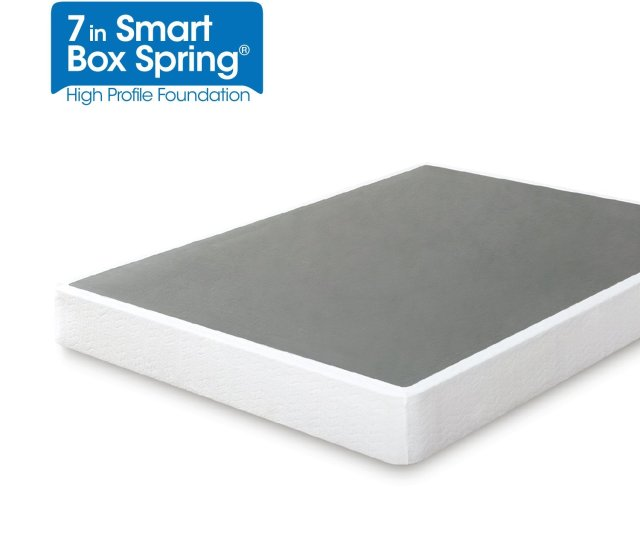 Amazon Com Zinus Armita 7 Inch Smart Box Spring Mattress Foundation Strong Steel Structure Easy Assembly Required Queen Kitchen Dining