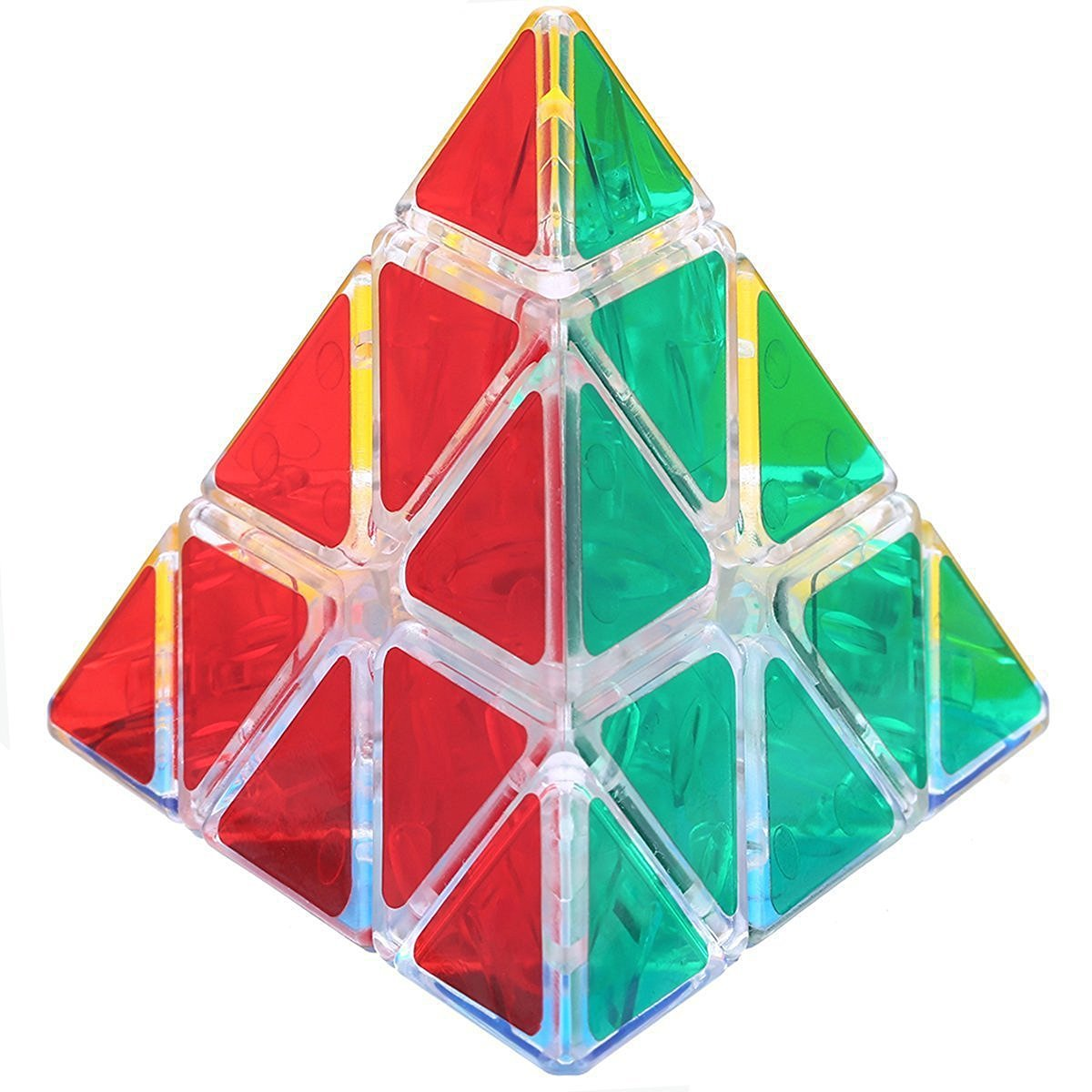 Dreampark Pyraminx Speed Cube Pyramid Triangle Magic Cube Smooth Twisty Puzzle, Transparent