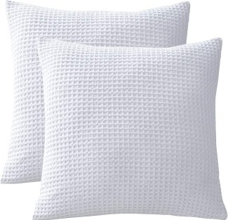 PHF Cotton Waffle Weave Pillow Covers