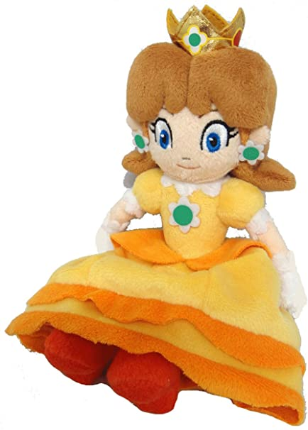 Amazon Com Sanei Super Mario Princess Daisy Plush Doll Toys Games