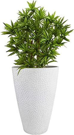 Amazon Com La Jolie Muse Large Outdoor Tall Planter 20in Indoor Tree Planter Plant Pot Flower Pot Containers White Honeycomb Garden Outdoor