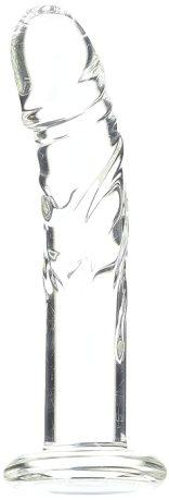 Spartacus Blown Medium Realistic Glass Dildo, Clear