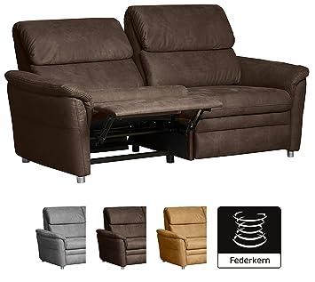 Cavadore Couchgarnitur Chalsay Inkl Relaxfunktion 3 Sitzer 2 Sitzer Und Sessel Mit Federkern Moderne Polstergruppe Sofa 3 Sitzig 179 X 94 X