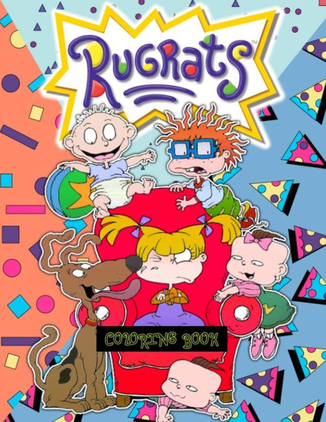 Rugrats Coloring Book: 19+ RUGRATS Designs for Coloring Stress