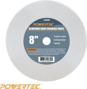 POWERTEC 15505 White Aluminum Oxide Grinding Wheel