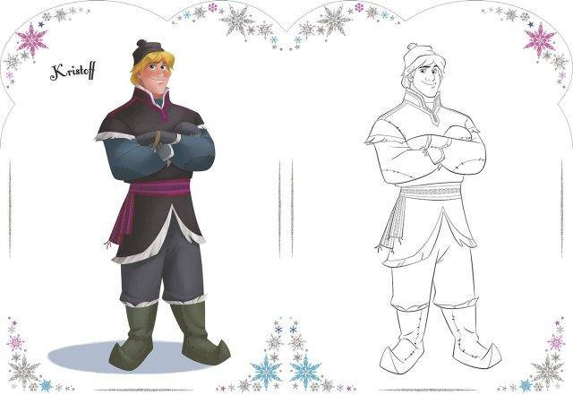 Disney La Reine des Neiges Vive le coloriage ! (Patin à glace