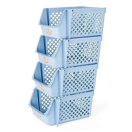 Titan Mall Stackable Storage Bins For Food Snacks Bottles Toys Toiletries