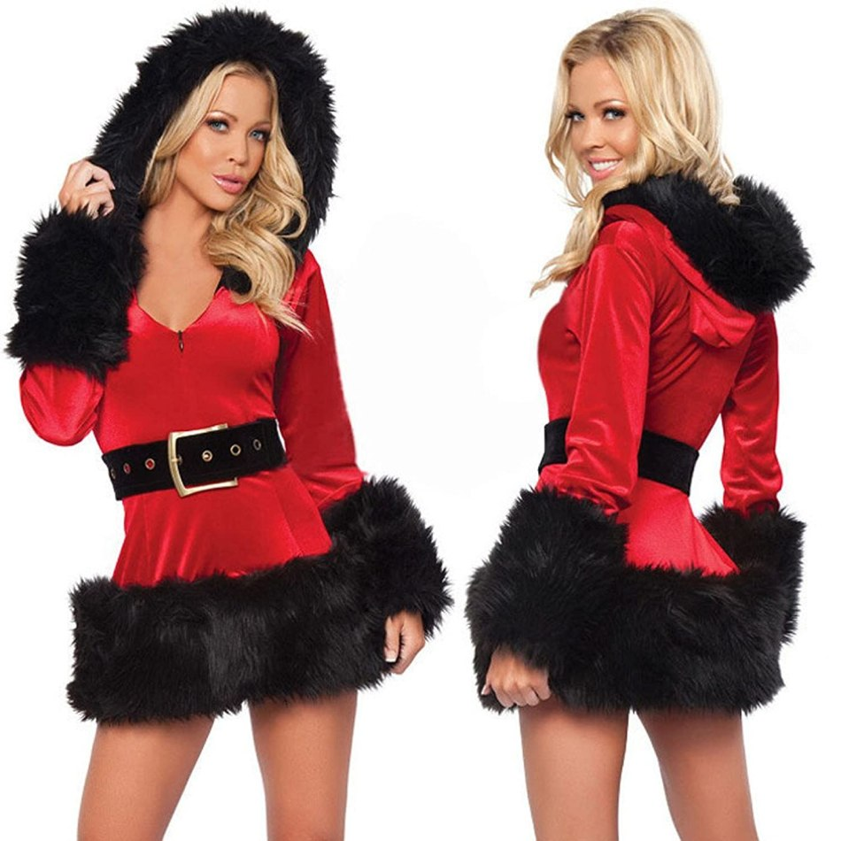 Kinghard Sexy Santa Costume , Mrs Christmas Party Fancy Two Parts Dress Cosplay Suit