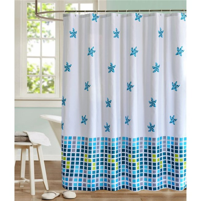 Mosaic Shower Curtains With Matching Bathroom Accessories - Best ...