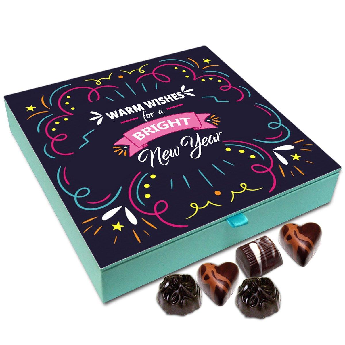 Chocholik New Year Chocolate Box – Accept My Warm Wishes for This New Year Chocolate Box – 9pc