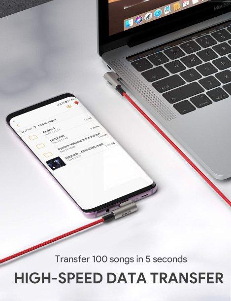 Aukey USB-C auf USB-C Kabel - Hohe Datenraten
