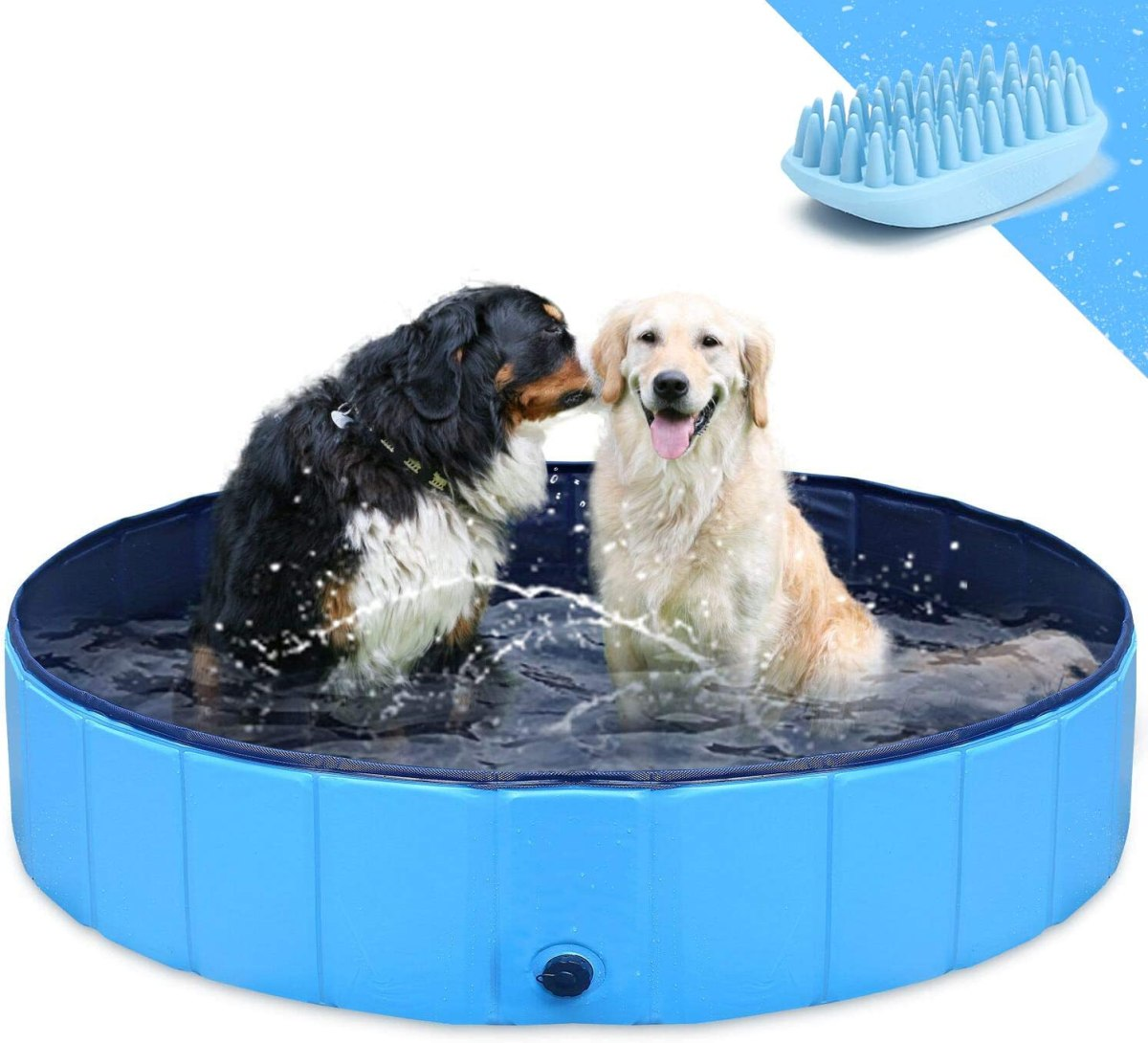 Piscina para Perros Plegable Mascota Piscina portátil