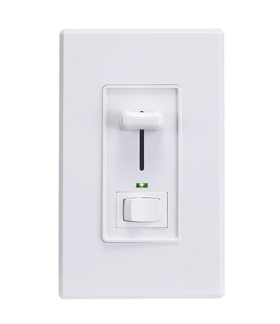 Cloudy Bay in Wall Dimmer Switch with Green Indicator