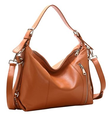 Heshe Vintage Women's Leather Shoulder Handbags Totes Top Handle Bags Cross Body Bag Satchel Handbag Ladies Purses (Brown-R)