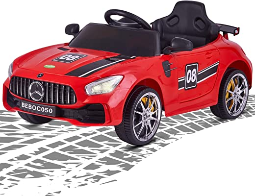 Baybee Mercedes Benz Baby Toy Car Rechargeable Battery Operated Ride on car for Kids/Baby with R/C Jeep Children Car Electric Motor Car Kids Cars,Baby Racing Car for Boys & Girls (Red)