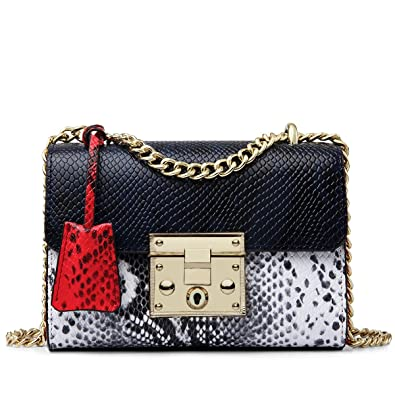 Image result for ZOOLER Leather Crossbody Bags Shoulder Bags Chain Purse Snake Handbag For Women Stylish