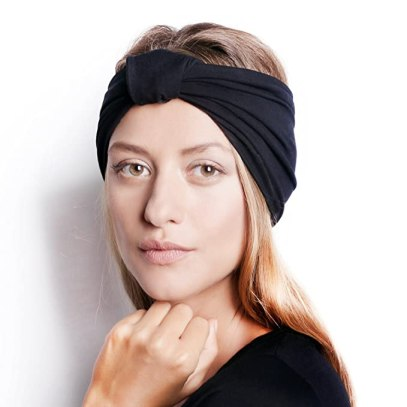 BLOM The Original Patent Pending Headband for Sports or Fashion, Yoga or Travel. 30 Day Happy Head Guarantee. Super Comfortable. Designer Style & Quality. Black.