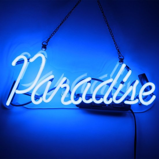 Image result for neon light paradise
