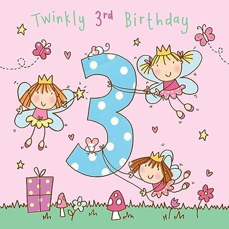 Twizler Biglietto Di Auguri Per Il 3 Compleanno Con