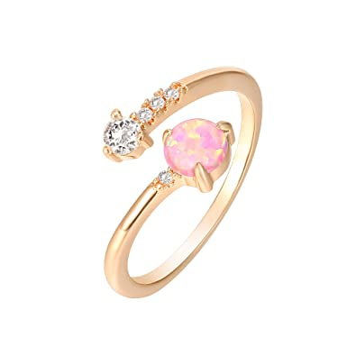 Amazoncom Pavoi 14k Rose Gold Plated Wrap Cubic Zirconia