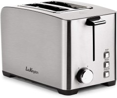 "Toaster 2 Slice Long Slot, LauKingdom Auto Pop-Up Stainless Steel 1.57"" Extra Wide Slots Toaster with 6 Shade Settings and"