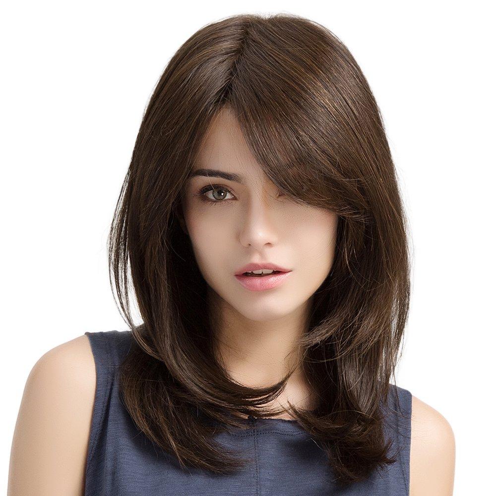 peluca castaño natural