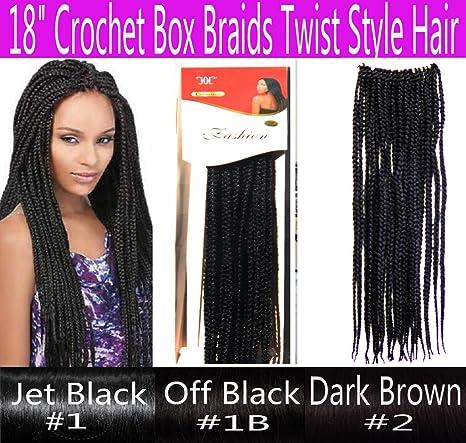 """18"""" Hand Crochet Braids Hair Box Braid Style Senegalese Extension"""