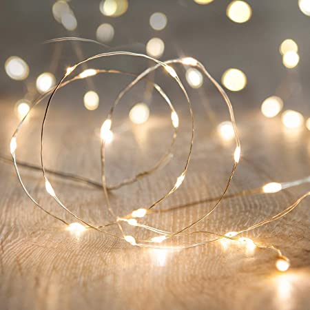 Amazon Com Led Fairy String Lights Anjaylia 10ft 3m 30leds Firefly String Lights Garden Home Party Wedding Festival Decorations Crafting Battery Operated Lights Warm White Garden Outdoor