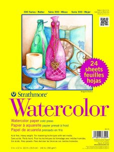 Strathmore Paper 300 Series Watercolor Class Pack