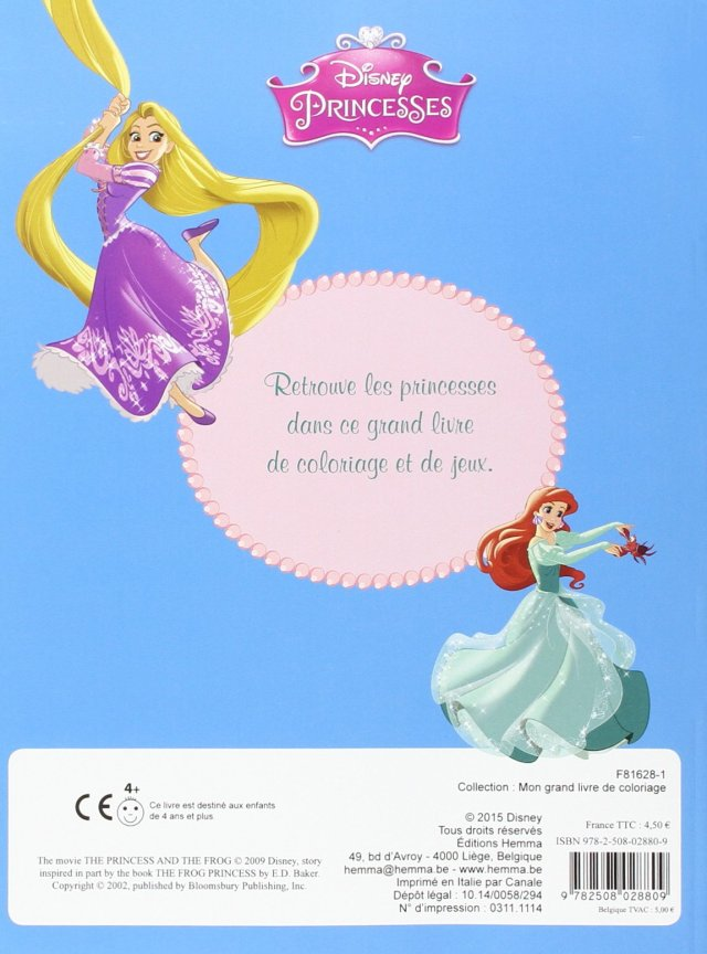 Disney Princesses Mon grand livre de coloriage (French Edition