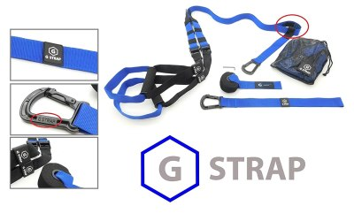 GYMSTUFF G-STRAP Suspension Body Fitness Trainer, Resistance Home Gym Fitness Training