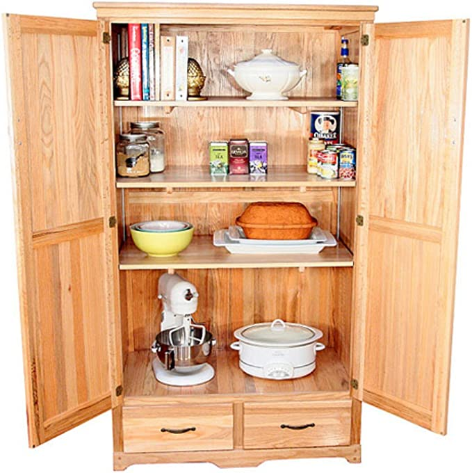 Amazon Com Oak Kitchen Pantry Cabinet Wall Mounted Cabinets Everything Else
