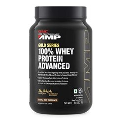 Buy GNC Amp Gold Series 100% Whey Protein Advanced - 2.2 lbs, 1Kg (Double  Rich Chocolate) Online at Low Prices in India - Amazon.in