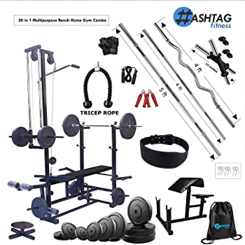 HASHTAG FITNESS 20 in 1 Bench Home Gym Equipment